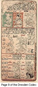 Maya artifact - page 9 of the Dresden Codex