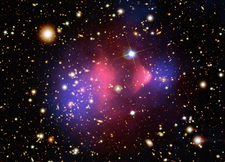 Image of galaxy cluster of stars in space
