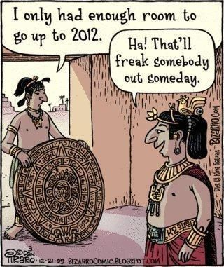 Mayan calendar 2012 funny cartoon comic