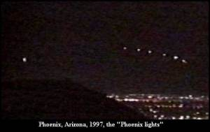 Pheonix Lights over Arizona