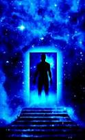 starseed soul walking in cosmic doorway