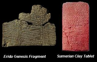 Sumerian clay tablets and the Eridu Genesis fragment