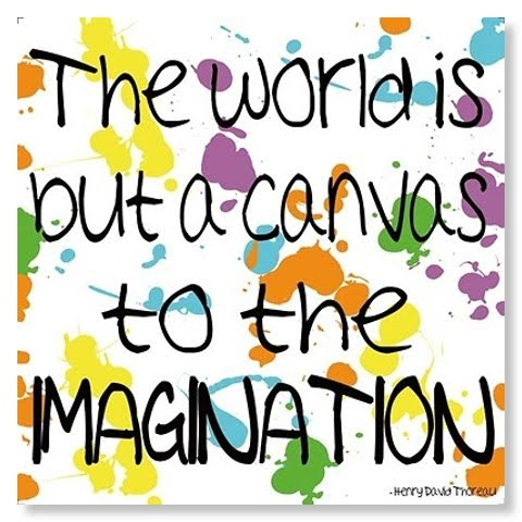 inspirational quote poster - use your imagination to create the self you want