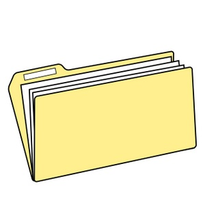 yellow folder files